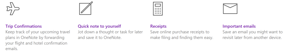 Onenote Email Ideas